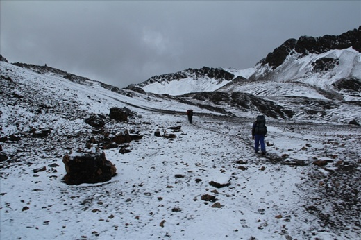 Day 4: Weather looks a bit grim at the top of the pass