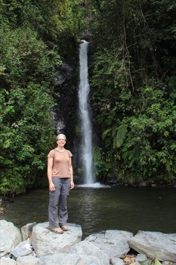 Waterfall near Coroico in the Yungas