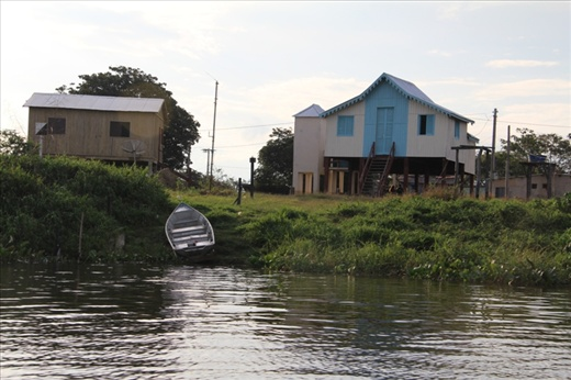 In the Pantanal houses are all built high up on stilts as it regularly floods