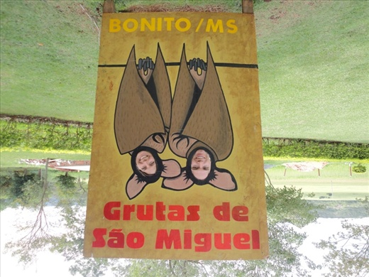 Sign near some more caves that we went to in Bonito, Brazil