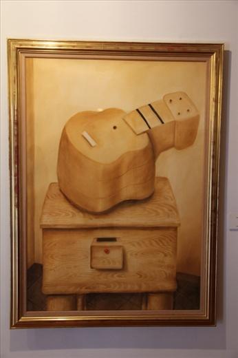 Fat Guitar - at the Botero Gallery, Bogota