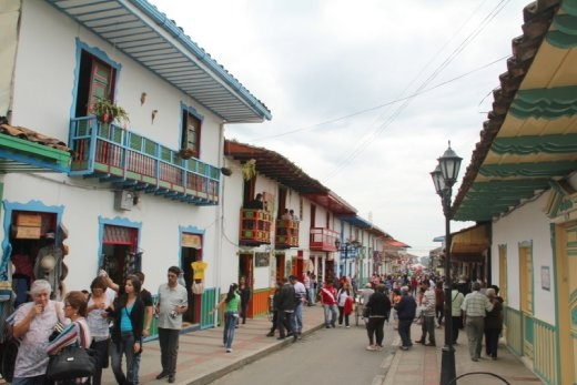 Salento - a small but very touristy town in the coffee growing region