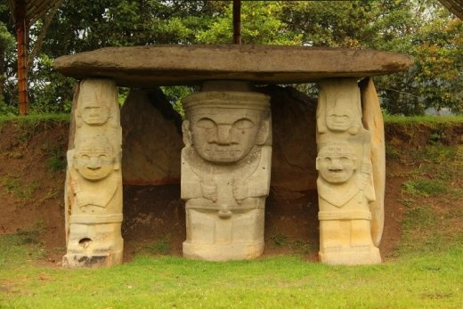 Ancient stone statues at San Agustin (~200AD)