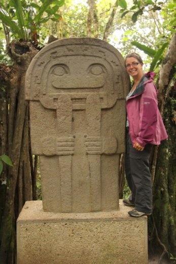 Ancient stone statues at San Agustin