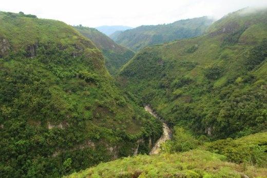 View along the canyon near San Agustin