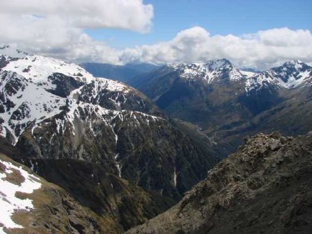 View from Avalanche Peak, Arthurs Pass National Park
