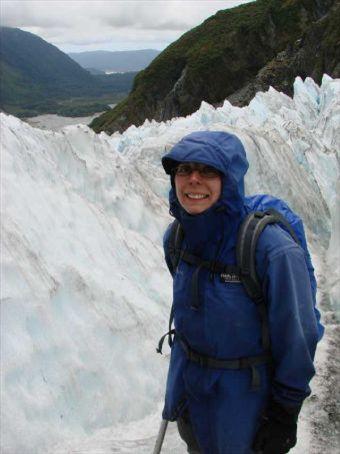 Beck on full day glacier walk, Franz Josef Glacier