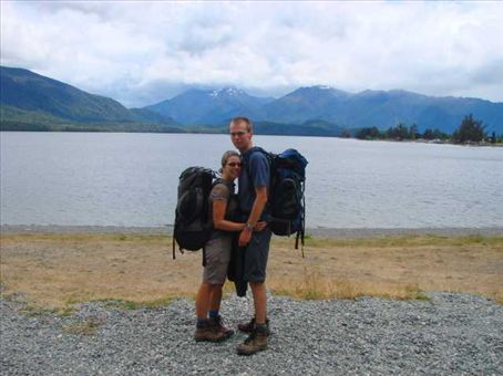 By Lake Te Anau after finishing the Kepler Track