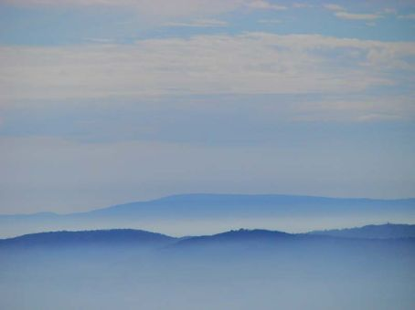 Misty hills view from The Pinnacle, The Grampians NP