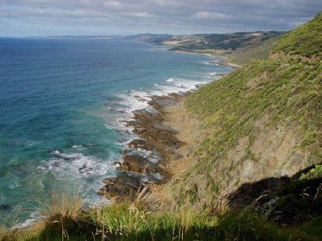 Random view along the Great Ocean Road