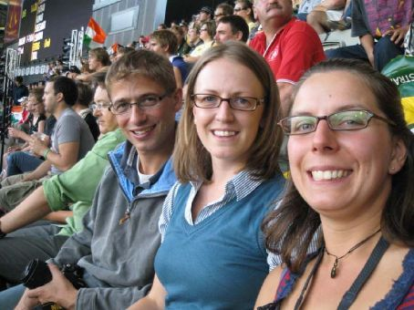 Michael, Clare & Beckie at the MCG (Melbourne Cricket Ground)