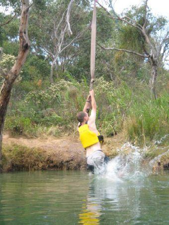 Rope swing at Angelsea, Great Ocean Road