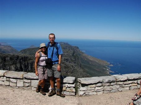 At the summit of Table Mountain, Cape Town