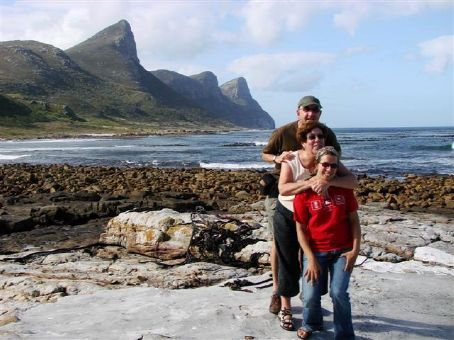 Beck and her parents at Cape Point National Park