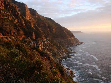 Chapmans Peak Drive at sunset, near Cape Town