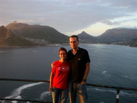 Us at Chapmans Peak (near Cape Town) at sunset