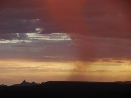 View from Fish River Canyon at sunset