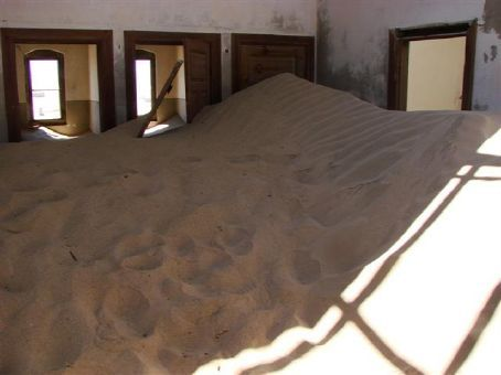 Kolmanskop Ghost Town in the middle of the Namibian Desert