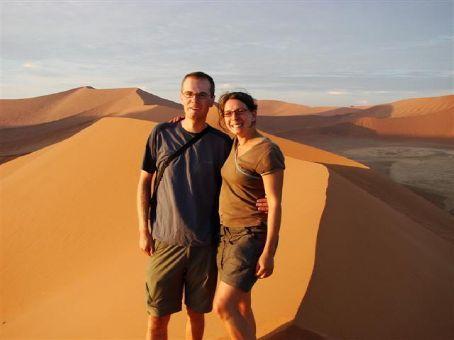 View from Dune 45, Namib Desert at sunrise