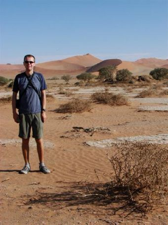 Phil in the middle of the Namib Desrt