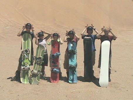 Dragoman people sandboarding