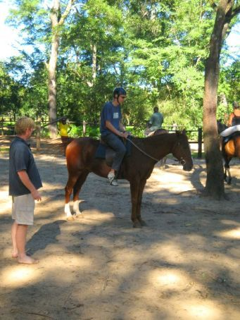 Phil horse riding at kande beach, Malawi