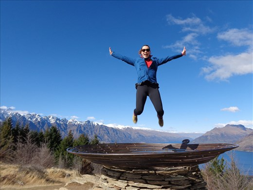Climbing mountains in Queenstown, New Zealand