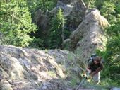 I dropped my backpack over 200 feet, and this is me smelling victory after an epic redneck rappel.: by befree, Views[182]