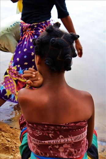 Beautiful woman in Madagascar.