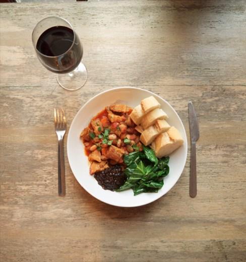 Pork belly and borlotti bean stew - Isobel Gladman
