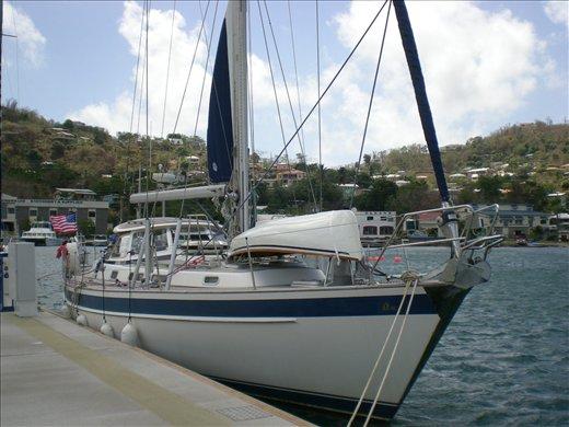 Belle in Port Louis Marina