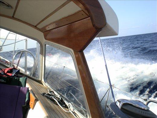 7 knots sailing close haul, great sail