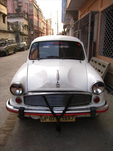 The old Ambasador cars (Indian taxis)