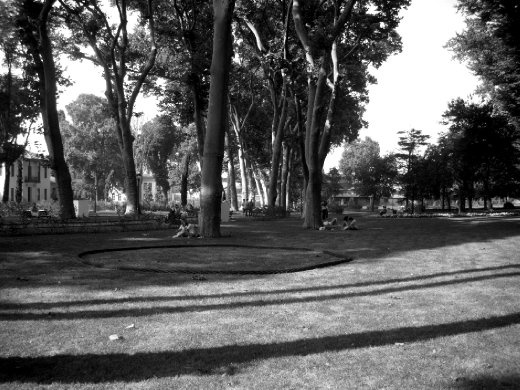 Gülhane park. lines and curves and people resting and enjoying the peacefullness of the scenery.