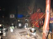 Inside a traditional masai house; up to 8 people may live here.: by beth_king, Views[1360]