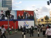 Billboard in Nairobi- note Boston Legal is very popular here, as is (you won't believe it) Neighbours, which screens daily on free-to-air TV. Worrying...: by beth_king, Views[344]