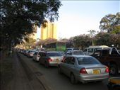 Traffic jam along my walk back to the city from the office- I started off taking the bus then realised that to walk took only 15 minutes which the bus often took up to 30- traffic jams are a big problem in Nairobi, as there are no trains or trams, and people rely solely on matatus, buses and private cars to get around.: by beth_king, Views[353]