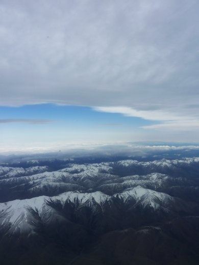 The beautiful Southern Alps from the air.