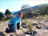 Posing with a Coprosma, one of the many native trees I planted.: by bettedarling, Views[214]