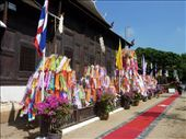 Another Wat in Chiang Mai, decked out for the celebration.: by bettedarling, Views[117]