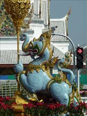 Statues decorating the streets in Bangkok.: by bettedarling, Views[138]
