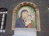 A mosaic in the courtyard of one of the Catholic Churches of Syria.: by bettedarling, Views[258]