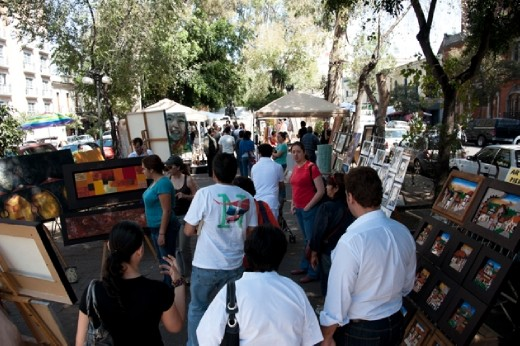 Art market in Alvaro Obregon
