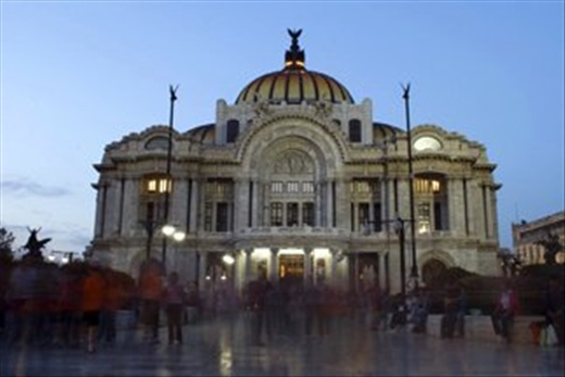 This is one of the iconic buildings in Mexico City, the Fine Arts Palace or
