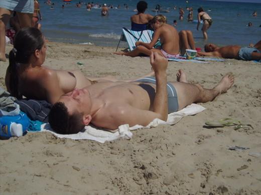 Topless sunbathing in spain
