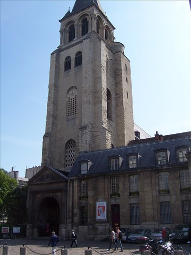Paris -- Eglise St-German des Pres --- Oldest standing church in Paris -- dates to 900's AD