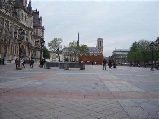 Paris -- Hotel de Ville -- square where Jeanne de Arc was burned at the stake