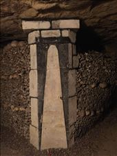 Paris -- Catacombs -- original painted marker for