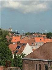 Brugge -- scene over house rooftops of Brugge from entry port tower: by billh, Views[73]