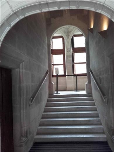 Chateau d'Azay- Rideau -- staircase